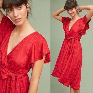 Anthroplogie McGuire Red Polka Dot Dress NWOT